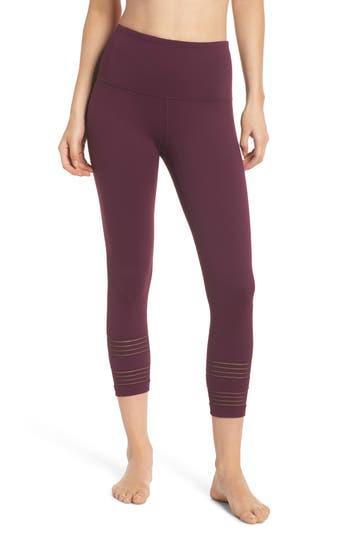 Zella Twin High Waist Crop Leggings, Purple