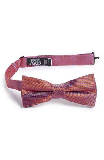 Boys Nordstrom Digital Print Silk Bow Tie Size Big Boy  Orange