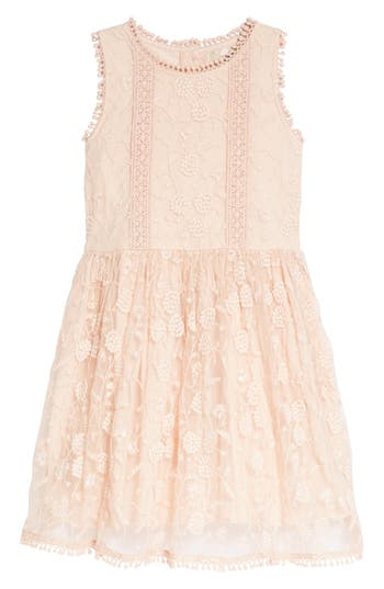 Girls Peek Alice Embroidered Lace Dress