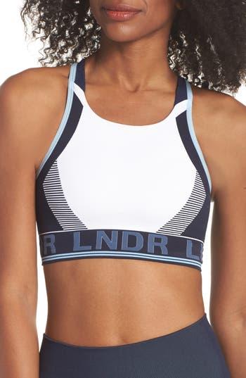 Lndr Gamma Seamless Sports Bra, White