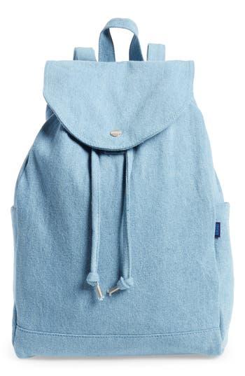 Baggu Drawstring Canvas Backpack - Blue