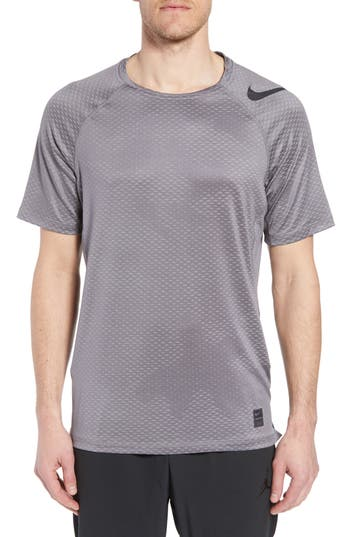 Nike Pro Hypercool Fitted Crewneck T-Shirt, Grey