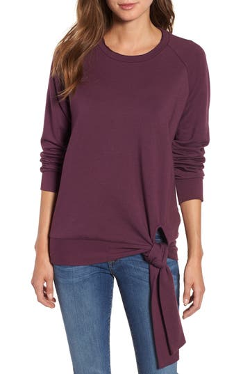 b11093597 Violet CASLONR Caslon Tie Knot Sweatshirt, Size X-Small - Purple 4-6 (S) on  COOLS