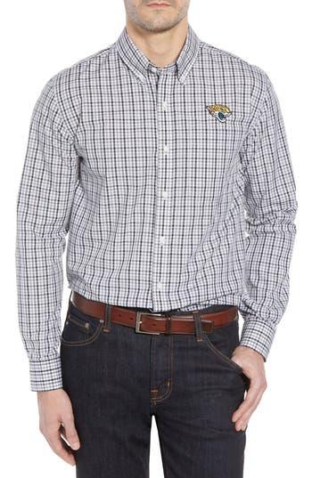 Men's Cutter & Buck Jacksonville Jaguars - Gilman Regular Fit Plaid Sport Shirt