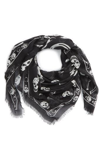 Alexnader McQueen Skull Modal & Silk Scarf