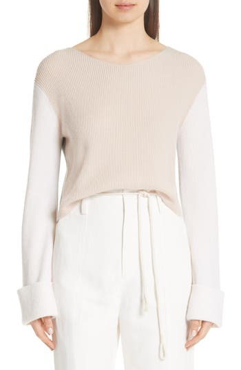 Vince Colorblock Cashmere Pullover