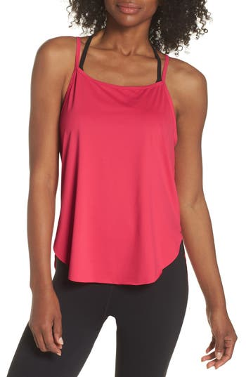 Zella Fera Perforated Tank, Red
