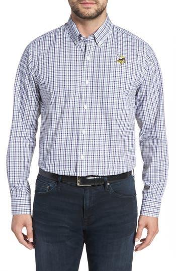 Cutter & Buck Minnesota Vikings - Gilman Regular Fit Plaid Sport Shirt