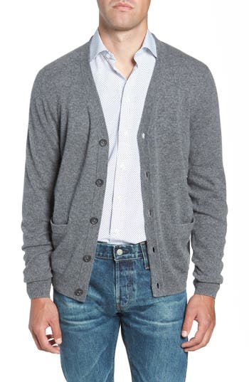 Nordstrom Men's Shop Cashmere Button Front Cardigan