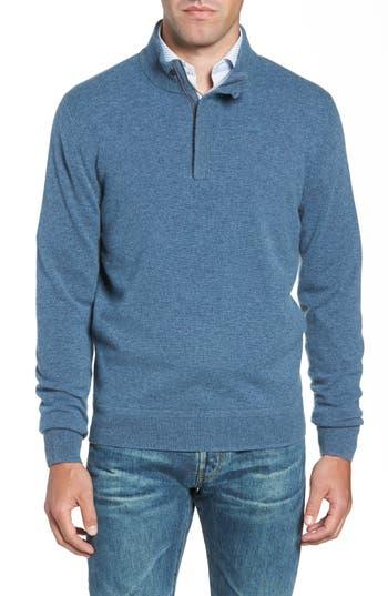 Nordstrom Men's Shop Regular Fit Quarter Zip Cashmere Sweater