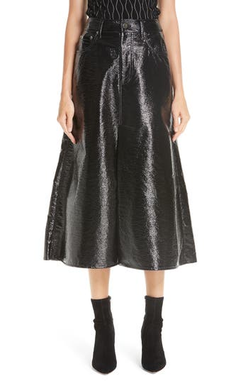 Beaufille Latona Coated A-Line Skirt