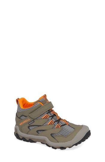Boys Merrell Chameleon 7 Mid Waterproof Boot Size 3.5 M  Grey