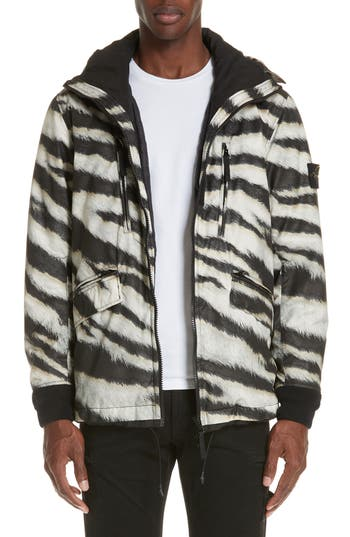 Stone Island Zebra Print Hooded Jacket