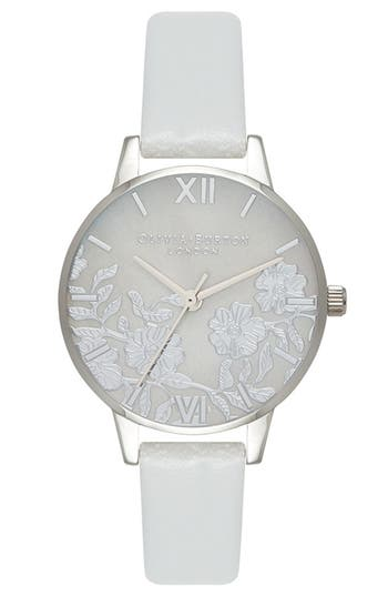 Olivia Burton Lace Leather Strap Watch, 30mm
