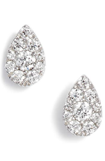Bony Levy Diamond Pavé Pear Stud Earrings