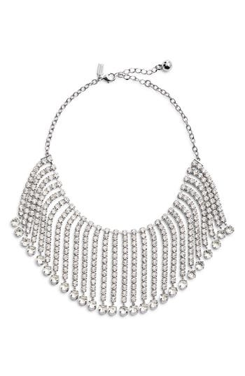kate spade new york crystal fringe collar necklace