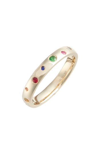 EF COLLECTION RAINBOW SPECKLED STACKING RING