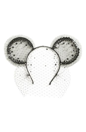 Gigi Burris Millinery x Disney Mickey Midnight Magic Moment Veil  Headband
