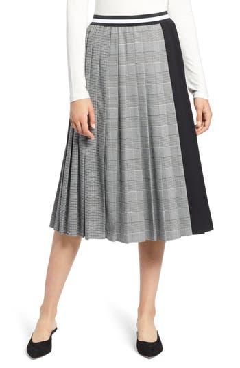 Halogen® Plaid A-Line Skirt