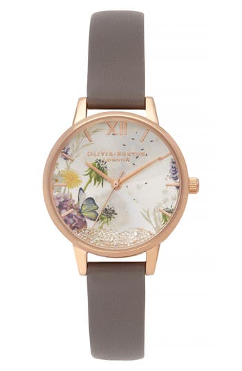 Olivia Burton Wishing Leather Strap Watch, 35mm