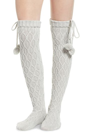 UGG® Sparkle Cable Knit Over the Knee Socks