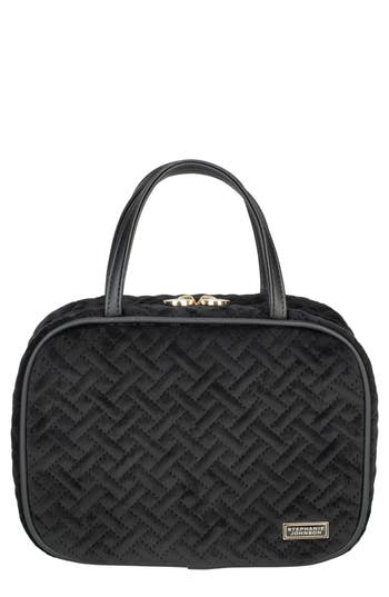 Stephanie Johnson Milan Black ML Traveler Cosmetics Case