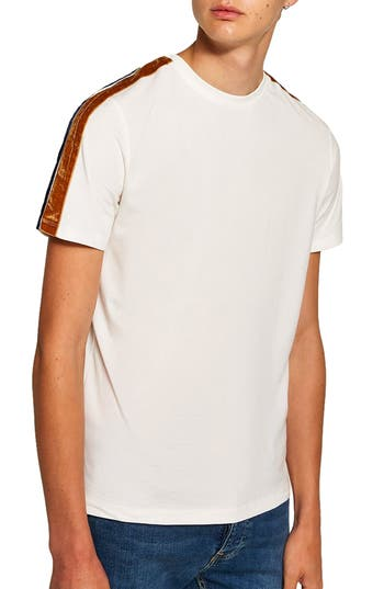 Topman Velour Taped T-Shirt