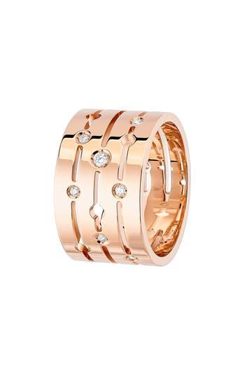 Dinh Van Pulse Large Diamond 18K Gold Ring
