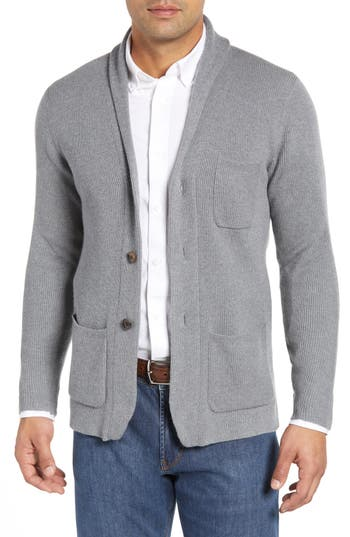 Peter Millar Collection Whites Wool & Cashmere Cardigan