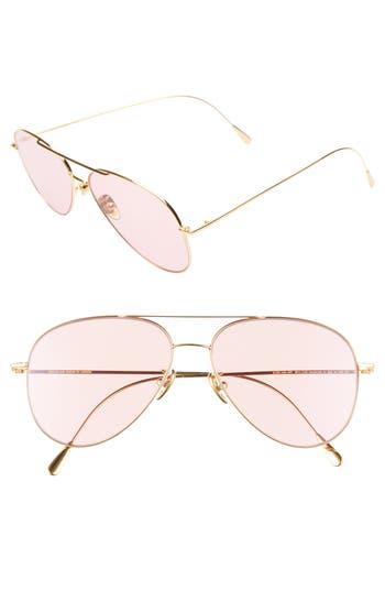 Cutler and Gross 58mm Polarized Aviator Sunglasses