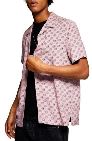 Topman Geometric Print Shirt