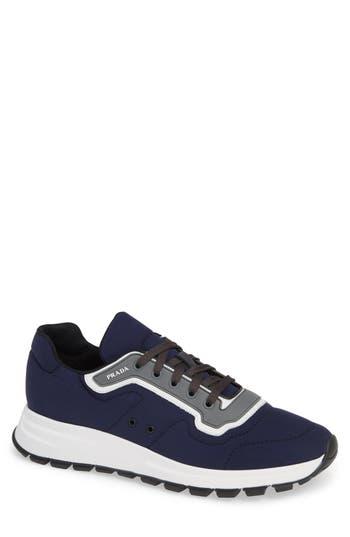 Prada Lace-Up Tech Sneaker