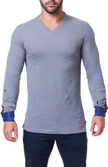 Maceoo Edison Matrix V-Neck T-Shirt