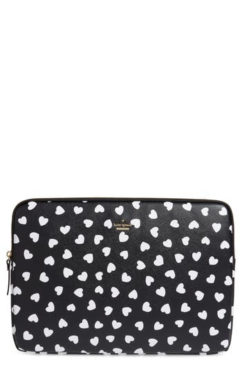 kate spade new york heartbeat faux leather universal laptop sleeve