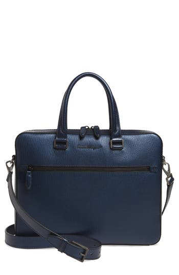 Salvatore Ferragamo Revival Metta Leather Briefcase
