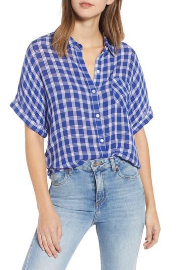 BP. Plaid Dolman Sleeve Shirt