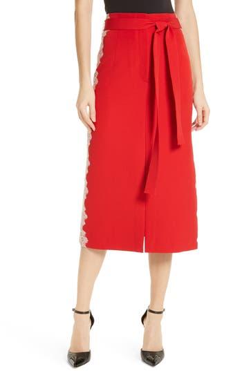 Robert Rodriguez Eva Lace Trim Skirt