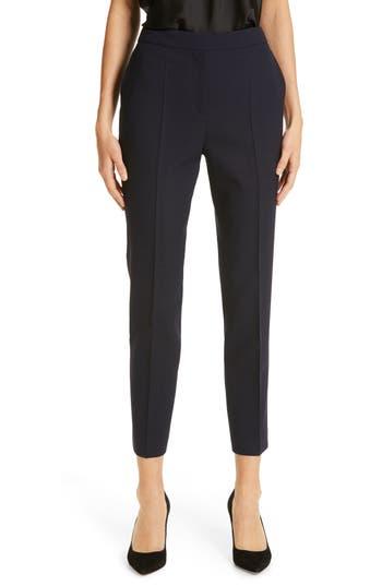 BOSS Tusanna Stretch Wool Ankle Suit Pants
