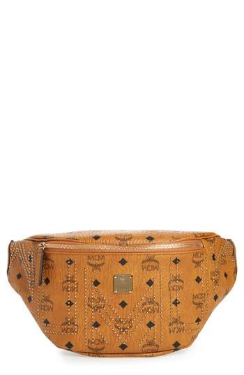 MCM Stark Studded Print Belt Bag