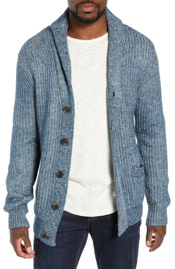 Schott NYC Multi Yarn Shawl Collar Cardigan