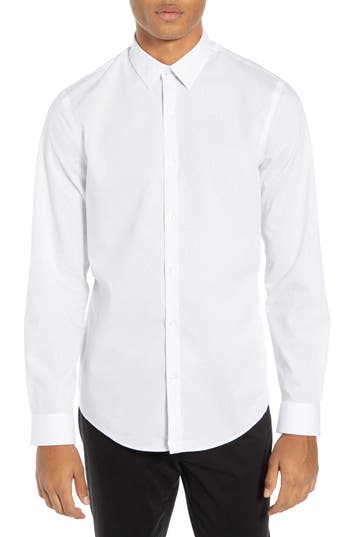 Calibrate Slim Fit Non-Iron Micro Dot Sport Shirt