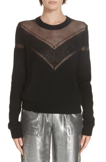 rag & bone Sheer Chevron Sweater