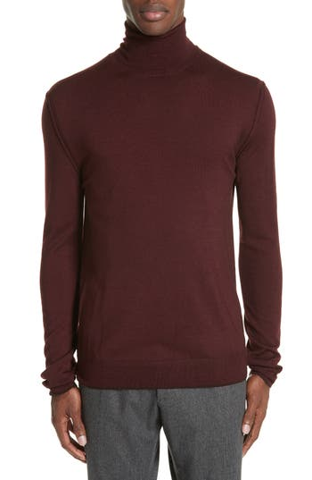 Boglioli Trim Fit Turtleneck Wool Sweater