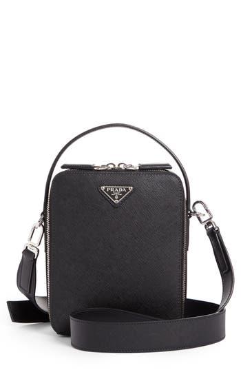 Prada Small Saffiano Calfskin Leather Messenger Bag