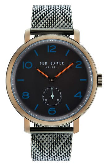 Ted Baker London Harry Mesh Strap Watch, 43mm