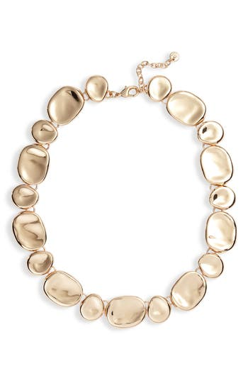Halogen® Molten Medallion Collar Necklace