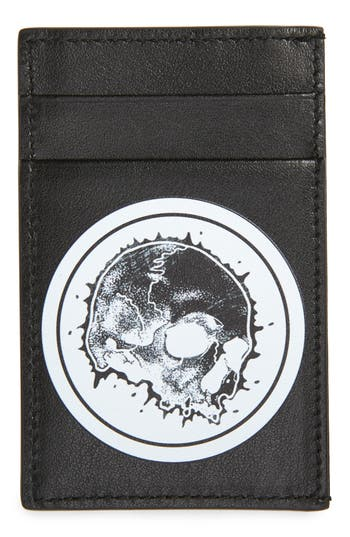 Alexander McQueen Skull Leather Card Case