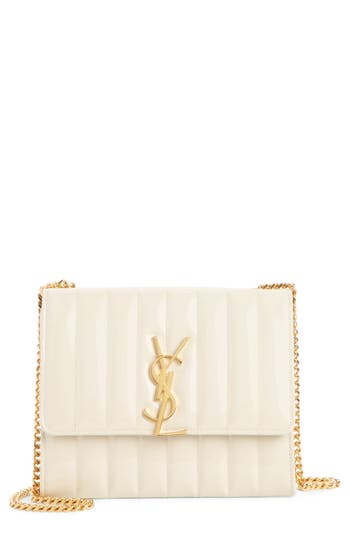 Saint Laurent Vicky Patent Leather Wallet on a Chain