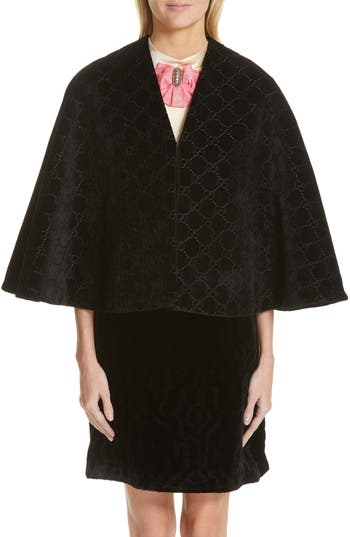 Gucci Intrigues GG Velvet Cape