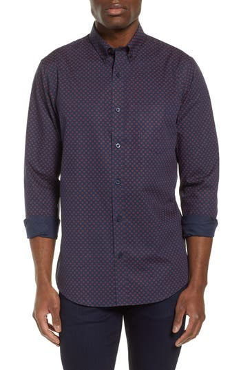 Nordstrom Men's Shop Regular Fit Non-Iron Print Sport Shirt